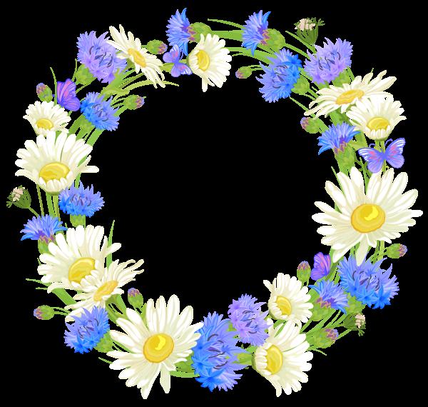 Laurel flower clipart clip royalty free download Полевые цветы венок PNG Clipart | Уголки | Pinterest | Wreaths, Clip ... clip royalty free download