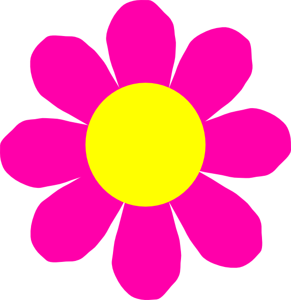 Flower with roots clipart image library Pink Flower Clip Art at Clker.com - vector clip art online, royalty ... image library