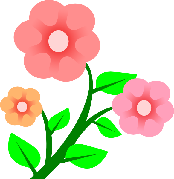 Flower with roots clipart png library stock Three Basic Flowers Clip Art at Clker.com - vector clip art online ... png library stock