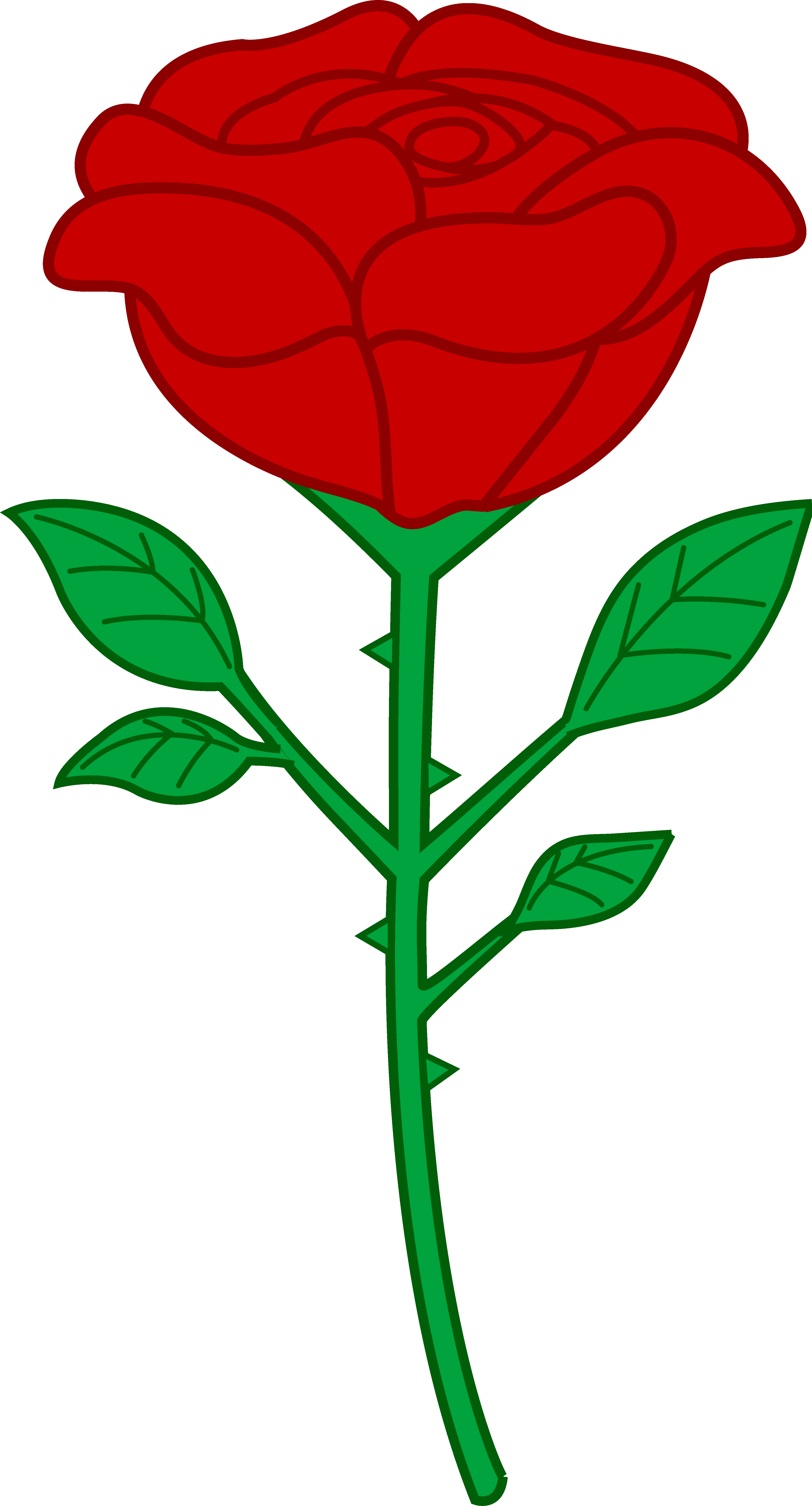 Free single rose clipart