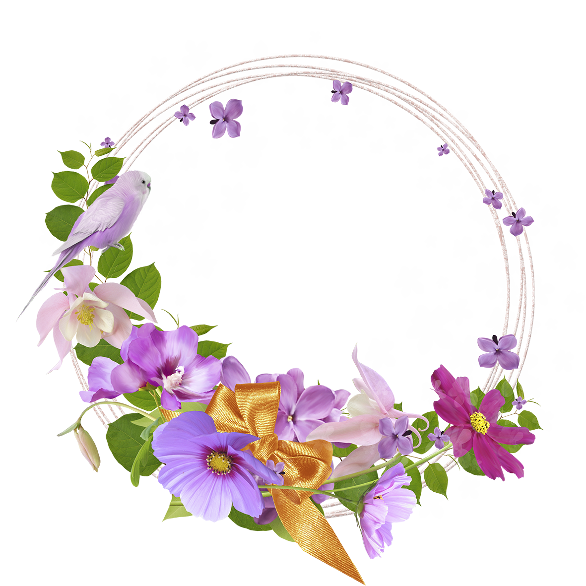 Flower round frame clipart clip royalty free download Pink Round Flowers Transparent Frame | Gallery Yopriceville - High ... clip royalty free download