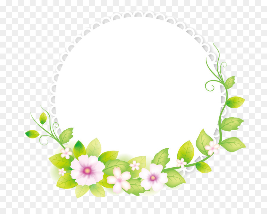 Flower round frame clipart royalty free Floral Border Frame png download - 1024*800 - Free Transparent ... royalty free