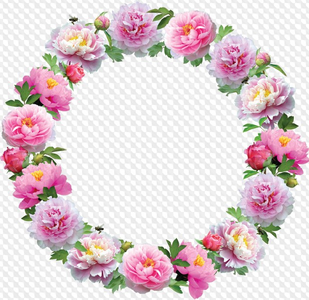 Flower round frame clipart png library stock 11 Round Flower Frames, clipart PNG, layered PSD png library stock
