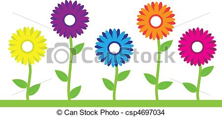 Flower row clipart freeuse download Flowers Stock Illustrations. 697,615 Flowers clip art images and ... freeuse download