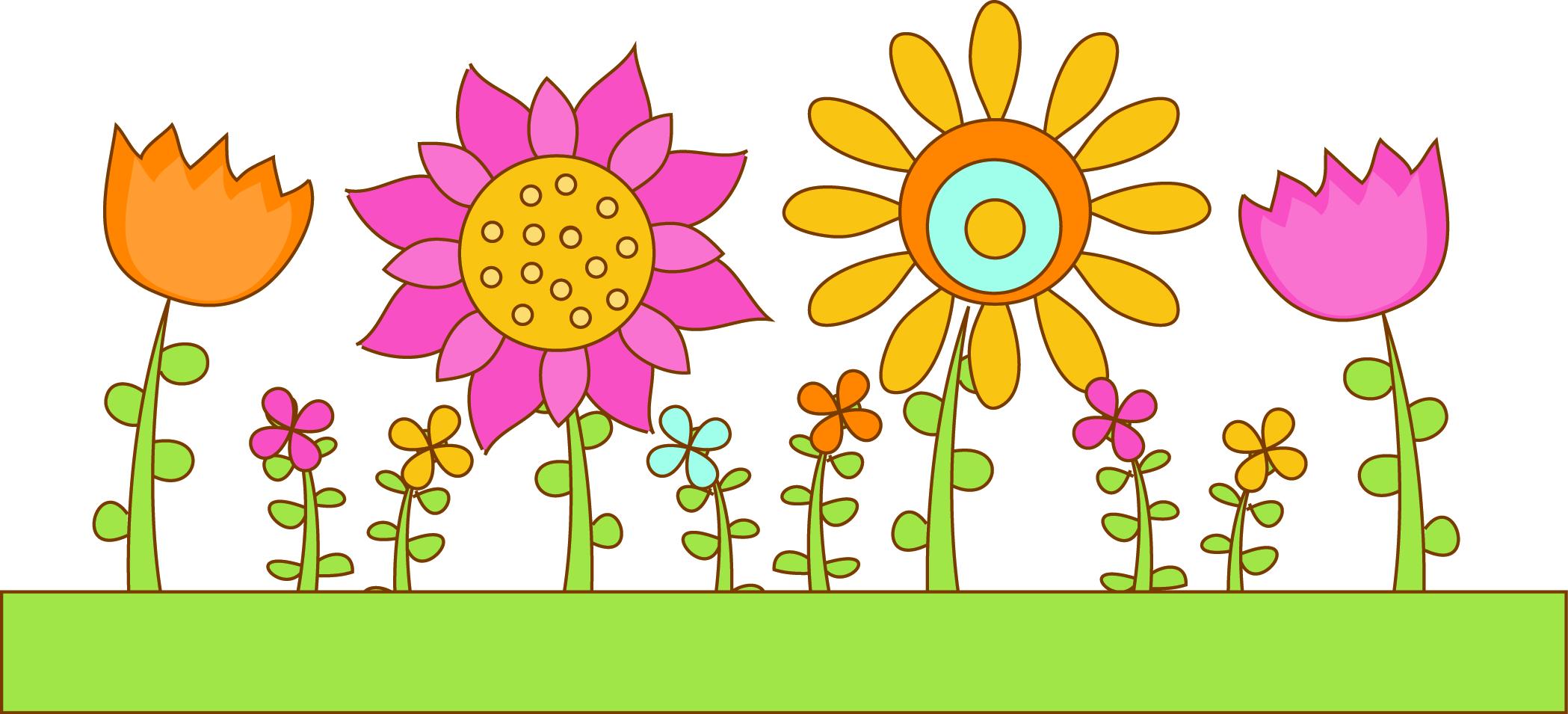 Flower row clipart image download Garden row clipart - ClipartFest image download