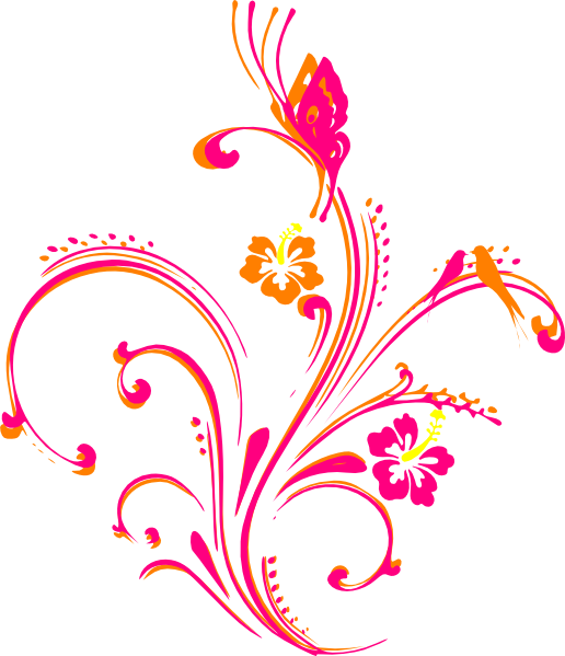 Flower scroll clipart clip royalty free stock Butterfly Scroll Clipart - Free Clip Art Images | art | Pinterest ... clip royalty free stock
