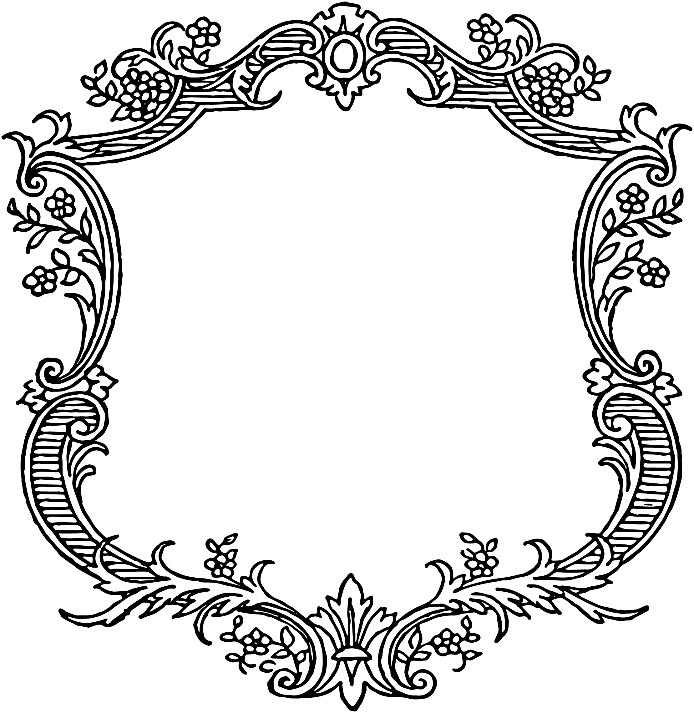 Flower scroll clipart picture library Ornament Vector Png Free vintage floral scroll | Выпиливание ... picture library