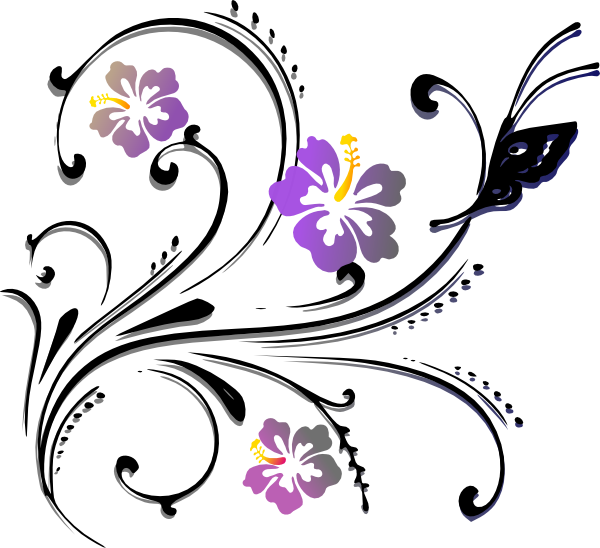 Flower scroll clipart jpg royalty free download Butterfly Scroll Clip Art at Clker.com - vector clip art online ... jpg royalty free download