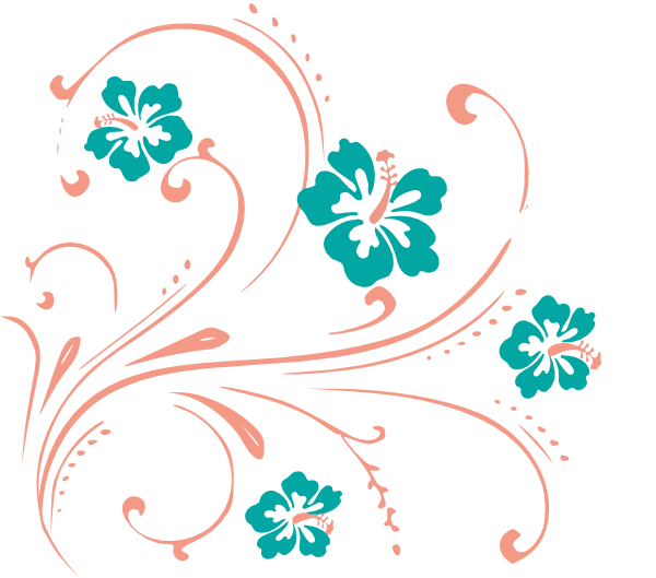 Flower scroll clipart clip royalty free library Tropical Flower Scroll Clip Art at Clker.com - vector clip art ... clip royalty free library
