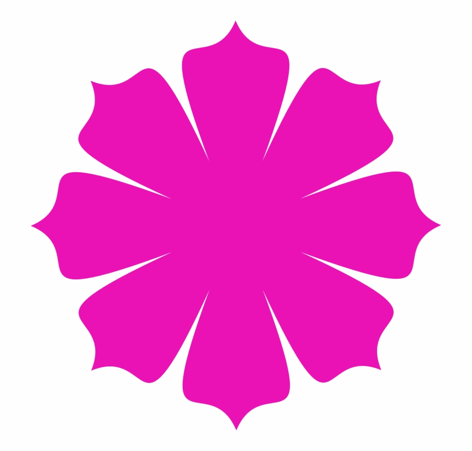 Flower shape clipart. Pink flowers clip art