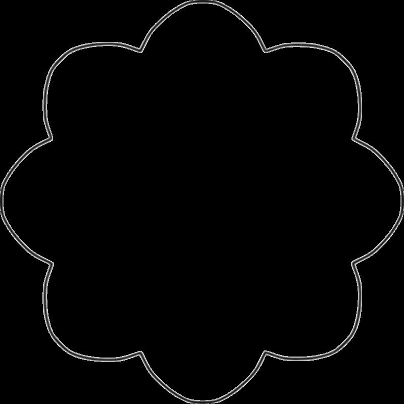 Shapes cliparts zone . Flower shape clipart