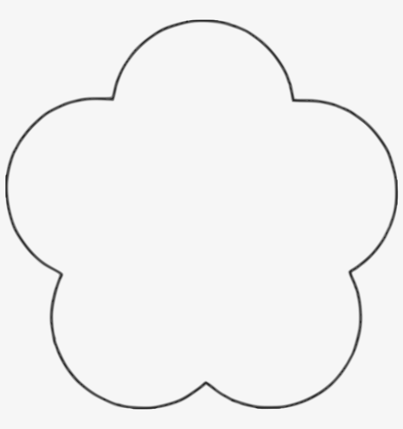 Flower shape clipart. Black and white free