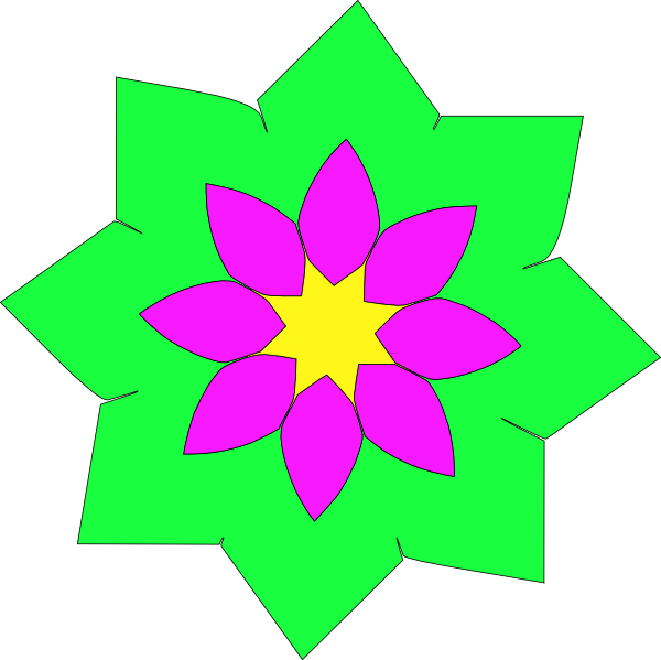 Flower shapes clipart banner download Geometric Flower Shape Clip Art at Clker.com - vector clip art ... banner download