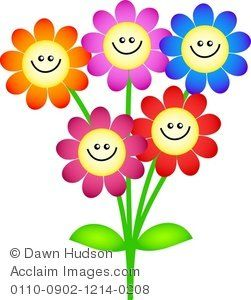 Happy google search face. Flowers with faces clipart