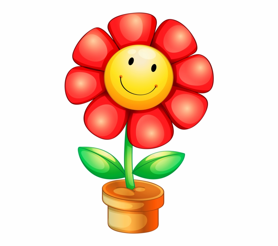 Flowers with faces clipart. Png clip art and