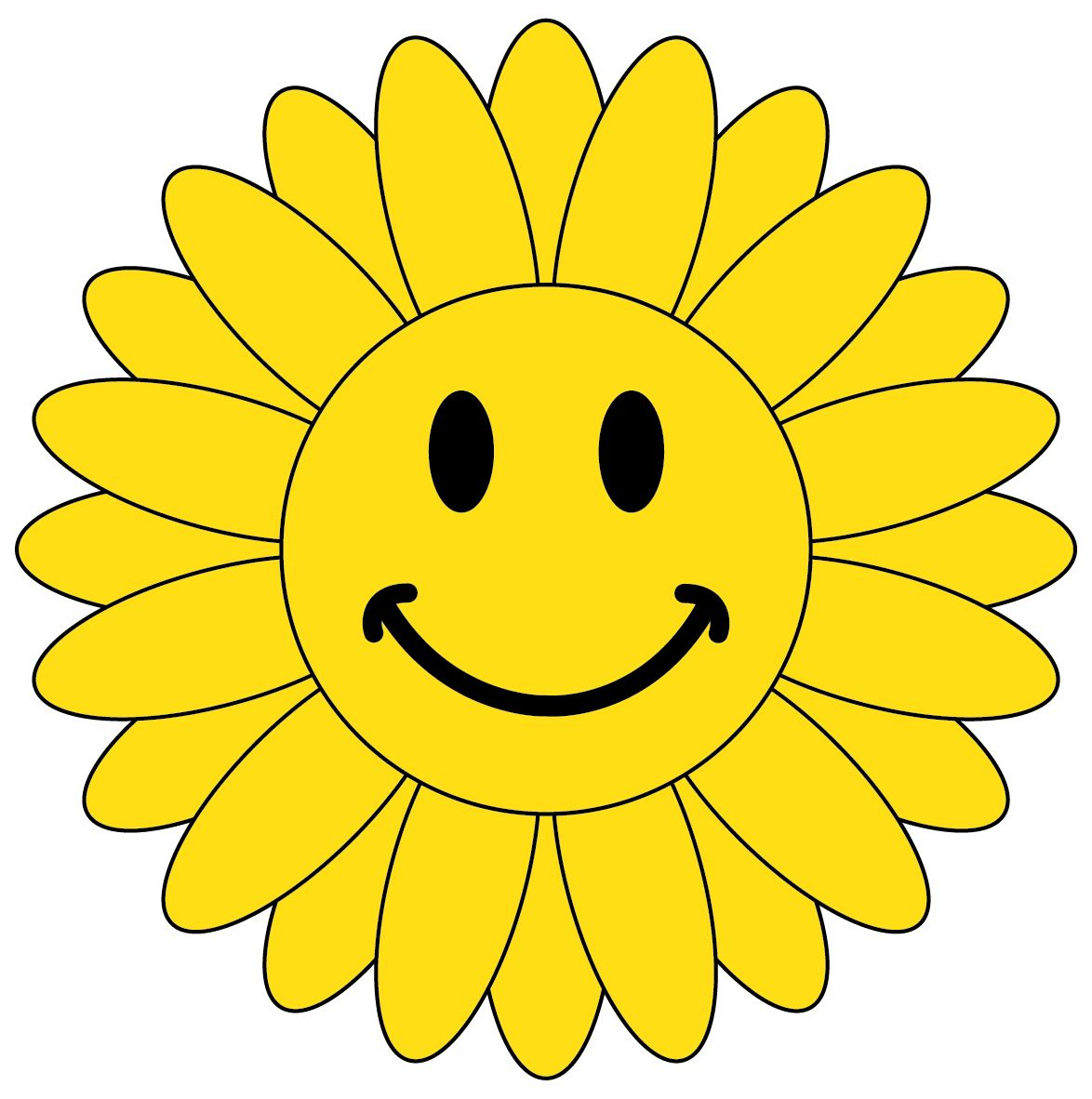 Flower smiley face clipart. Moving faces clip art