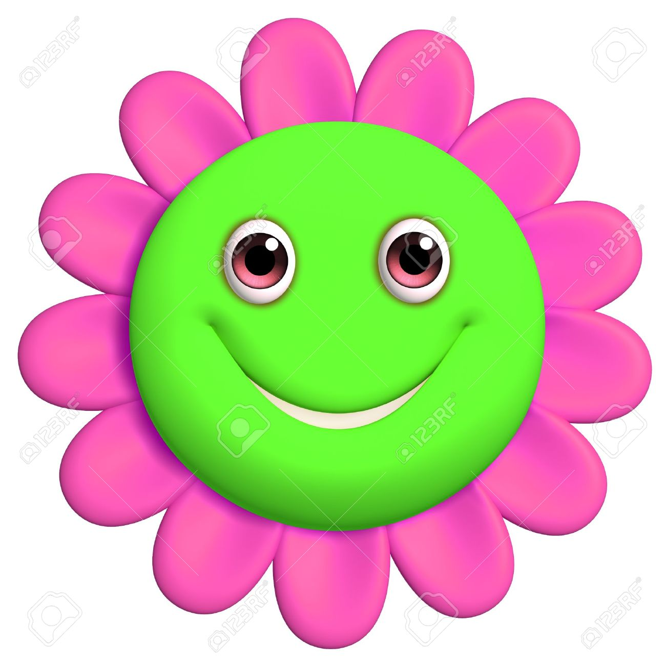 Flower smiley face clipart. Best clipartion com green
