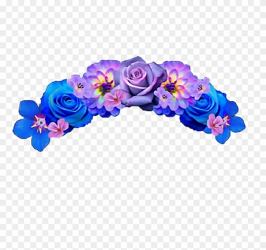 Hd flowercrown rose crown. Flower snapchat clipart