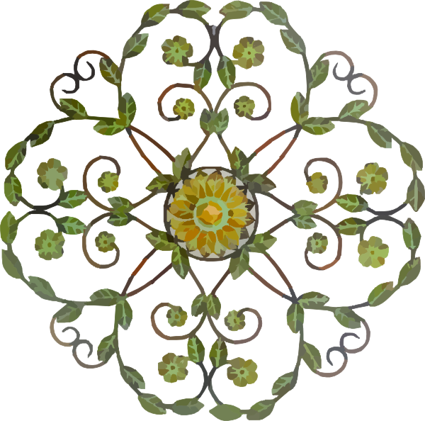 Flower swag clipart clipart download Decorative Floral Metal Craft Clip Art at Clker.com - vector clip ... clipart download