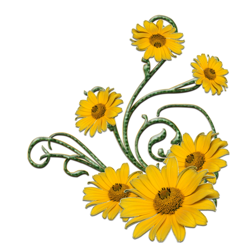 Flower swirl clipart banner transparent download yellow flower and green swirls png by Melissa-tm on DeviantArt banner transparent download