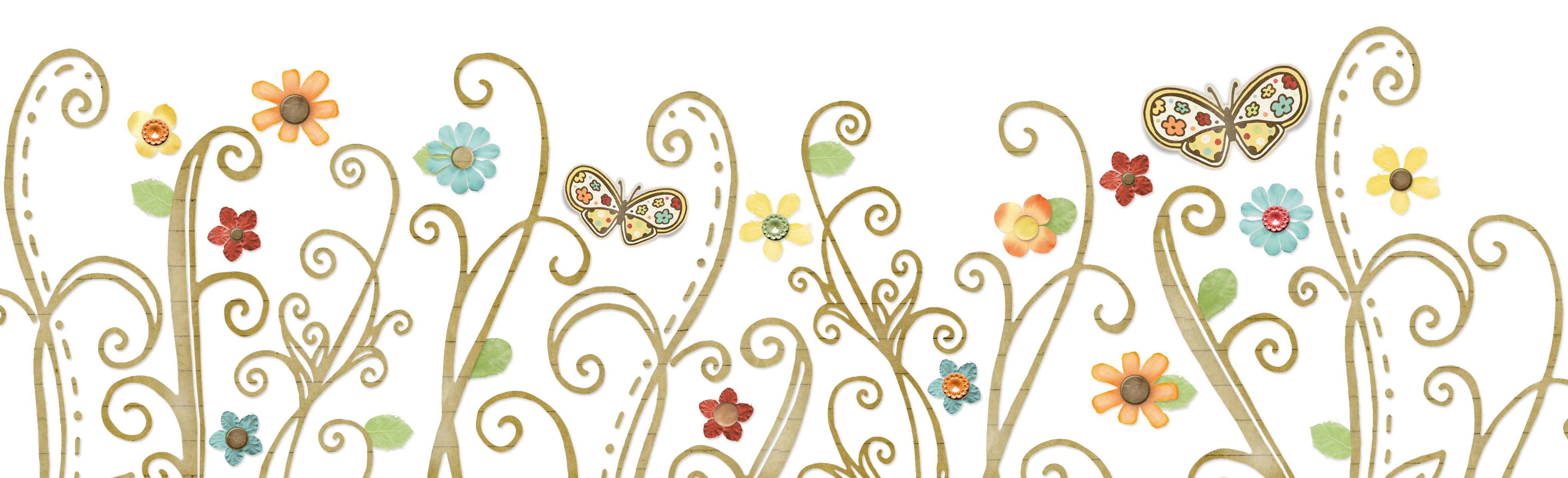 Flower swirl clipart vector transparent stock Images of Floral Swirls Border - #SpaceHero vector transparent stock
