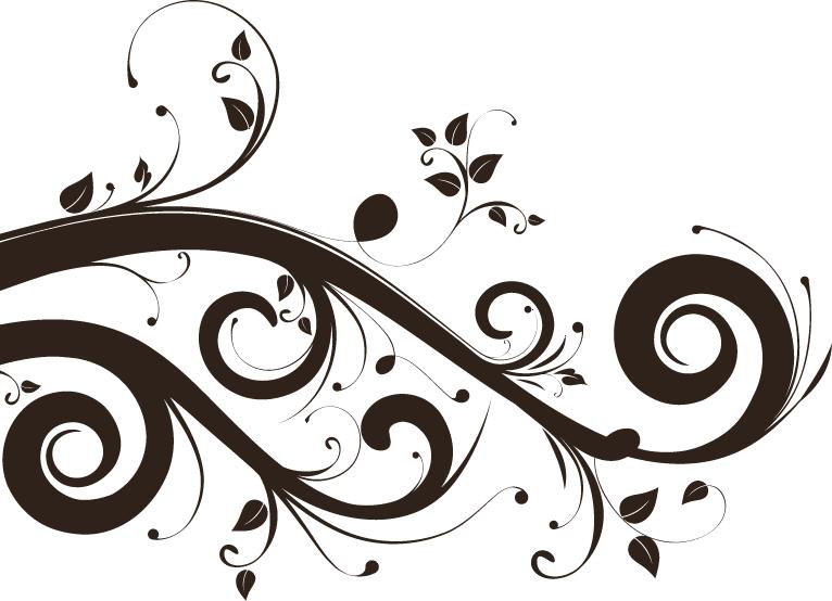 Flower swirls clipart clip art library library PSD emplate: Floral swirls Psd Template | SP!RAL!NG Out of CoNtRoL ... clip art library library