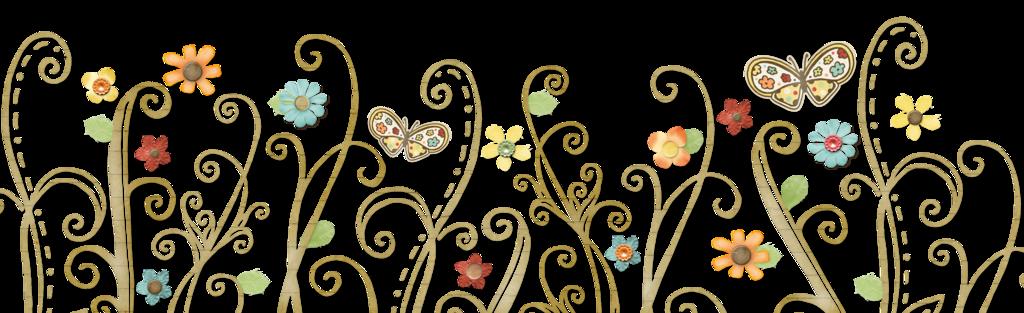 Flower swirls clipart freeuse stock flowers-swirls-butterflies | Magickal Ingredients freeuse stock