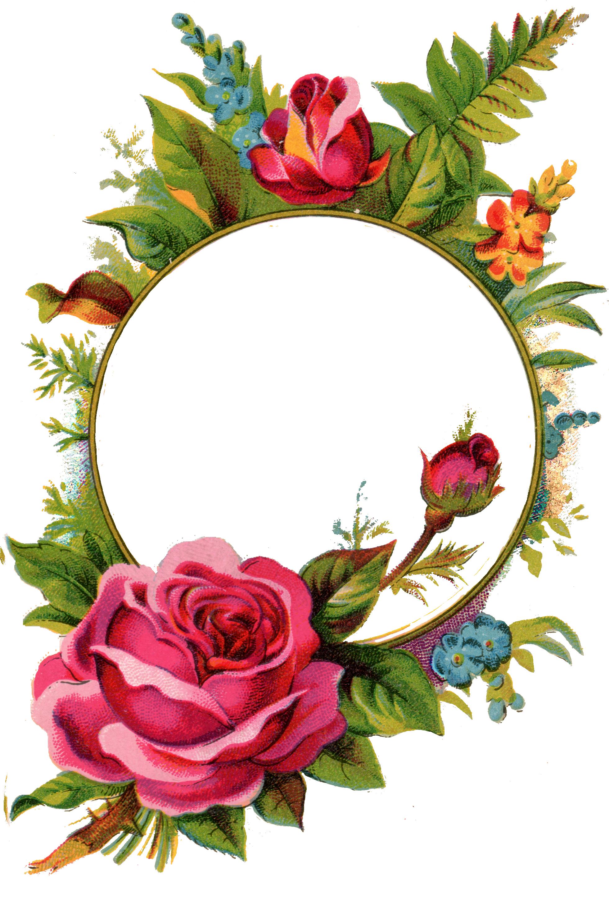 Pix for vintage rose. Flower tag clipart