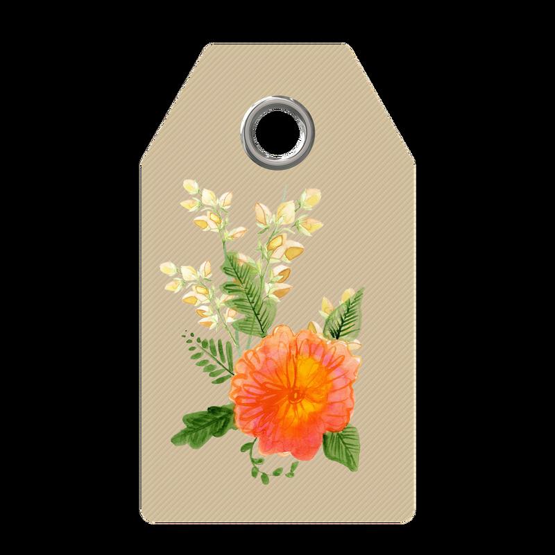 Free digital images vintage. Flower tag clipart