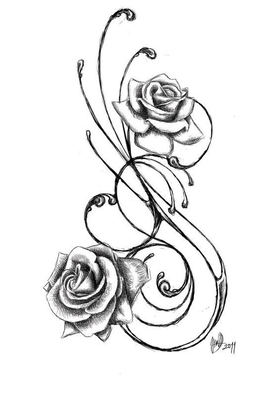 Flower tattoo belly clipart clipart black and white stock Star Flower Tattoo Designs Group with 67+ items clipart black and white stock