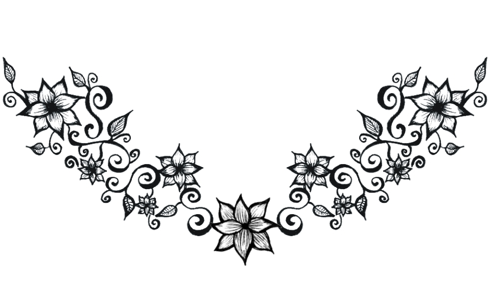 Flower tattoo belly clipart clipart black and white stock Free Swirls Tattoo Designs, Download Free Clip Art, Free Clip Art on ... clipart black and white stock