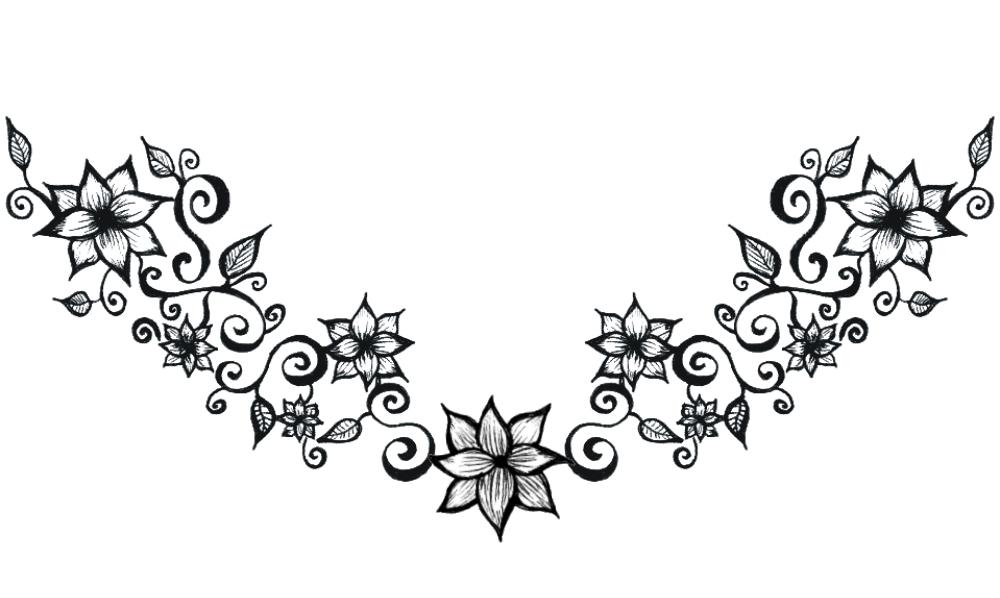 Flower tattoo belly clipart. Free swirls designs download