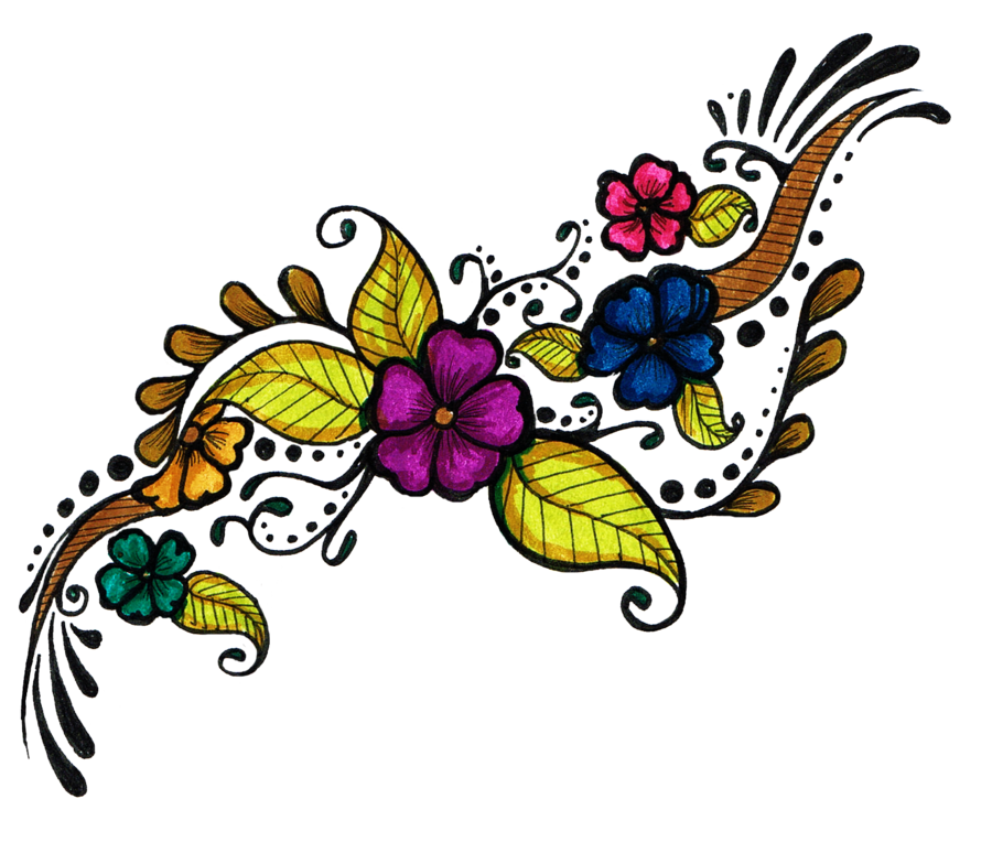 Flower tattoo clipart png free library Flower Tattoo Design Clipart - 6050 - TransparentPNG png free library