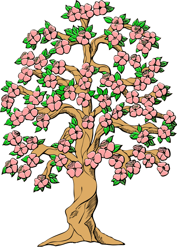 Pomegranate tree clipart banner library Clipart flower tree - ClipartFest banner library