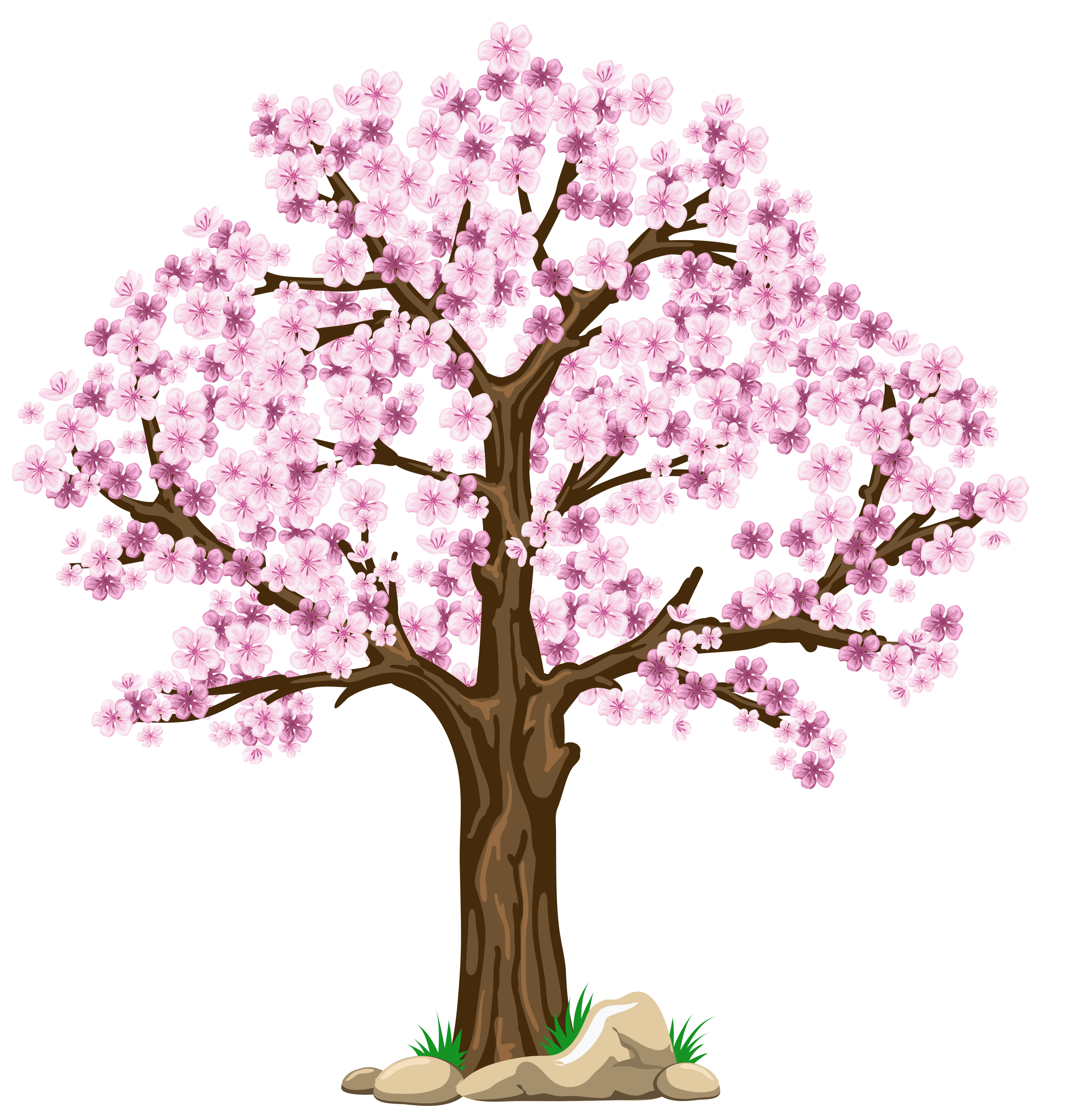 Flower tree clipart png svg free Transparent Pink Tree PNG Clipart Picture svg free