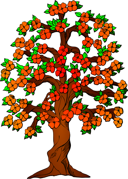Flower tree clipart png png library stock Flowered Tree Clip Art at Clker.com - vector clip art online ... png library stock