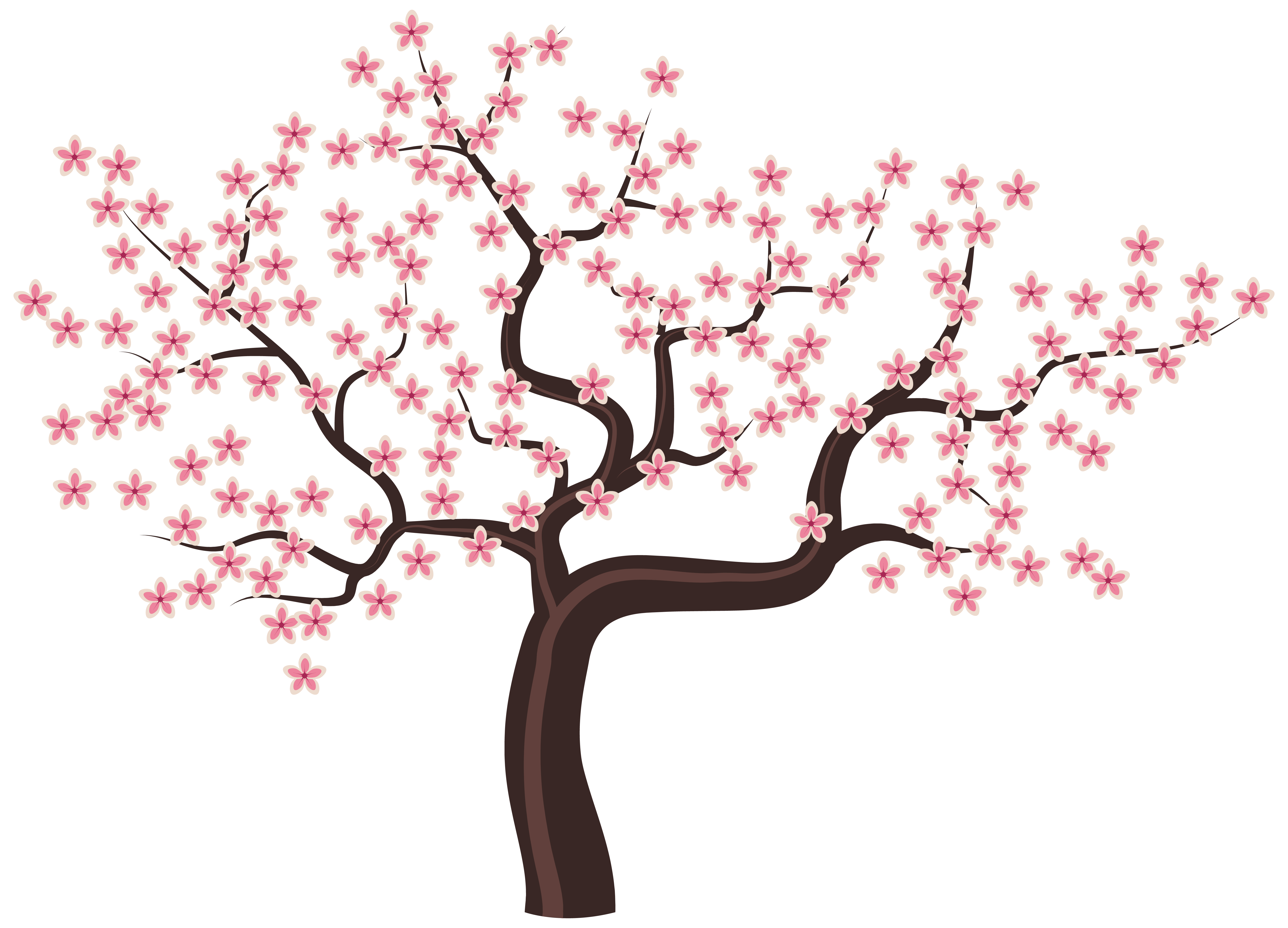 Blossom tree clipart banner transparent stock Tree with Flowers PNG Clipart Image banner transparent stock