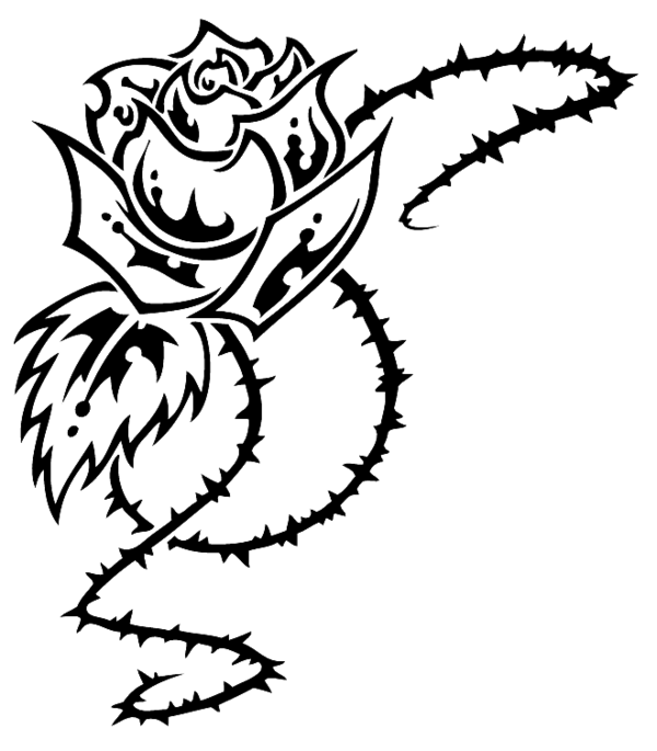 Flower tribal clipart image download Rose Tribal by HallowGazer on DeviantArt image download