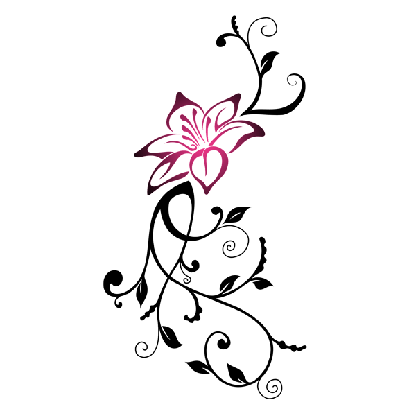 Flower tribal clipart banner free library Tribal Flower Drawing at GetDrawings.com | Free for personal use ... banner free library