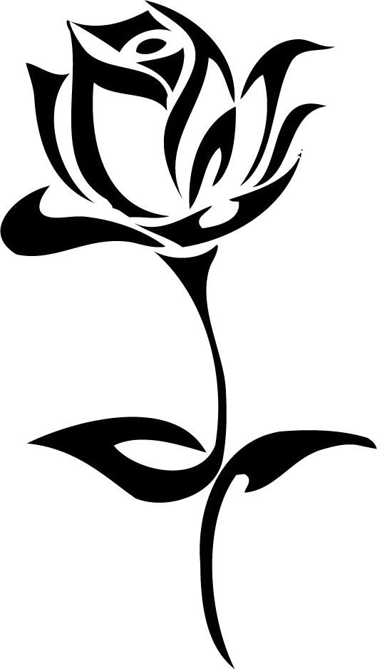 Flower tribal clipart image free download Tattoo rose PNG image | flower | Pinterest | Silhouette art and ... image free download