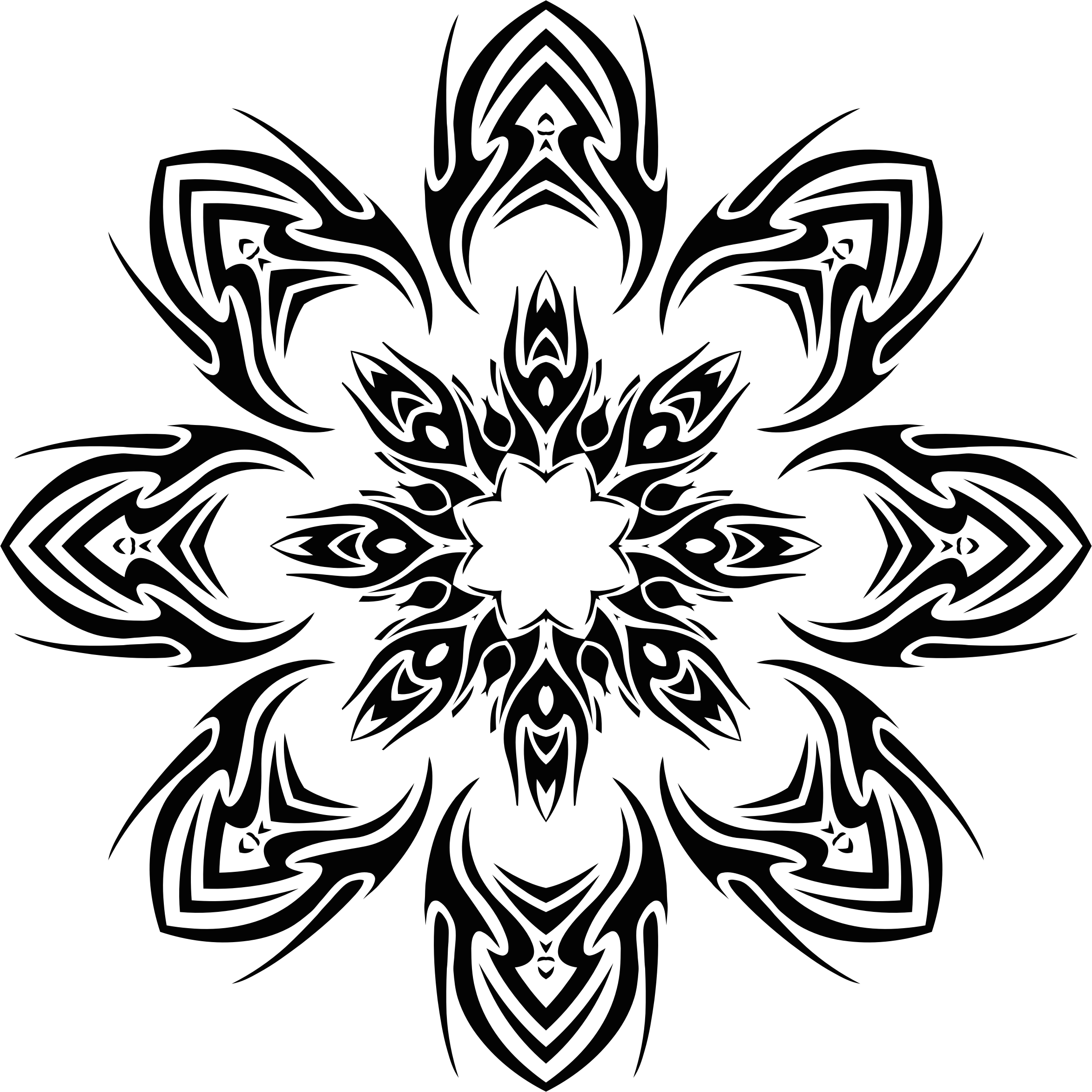Flower tribal clipart image library Clipart - Tribal Flower 2 image library