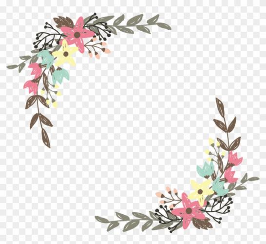 Flower vector border clipart clip royalty free Border Flowers Wildflower Clip Art – Flower Border Vector .. clip royalty free