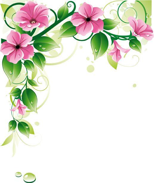 Flower vector border clipart royalty free download Flower border u0026amp background vector Free Vector / 4Vector ... royalty free download