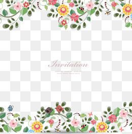 Flower vector border clipart image black and white stock 2019 的 Flowers Border, Vector Flowers Border, Cartoon Flowers ... image black and white stock
