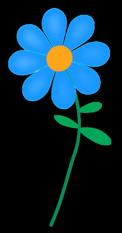 Flower vector clipart royalty free Blue Flower Free Clipart - Rooweb Clipart royalty free