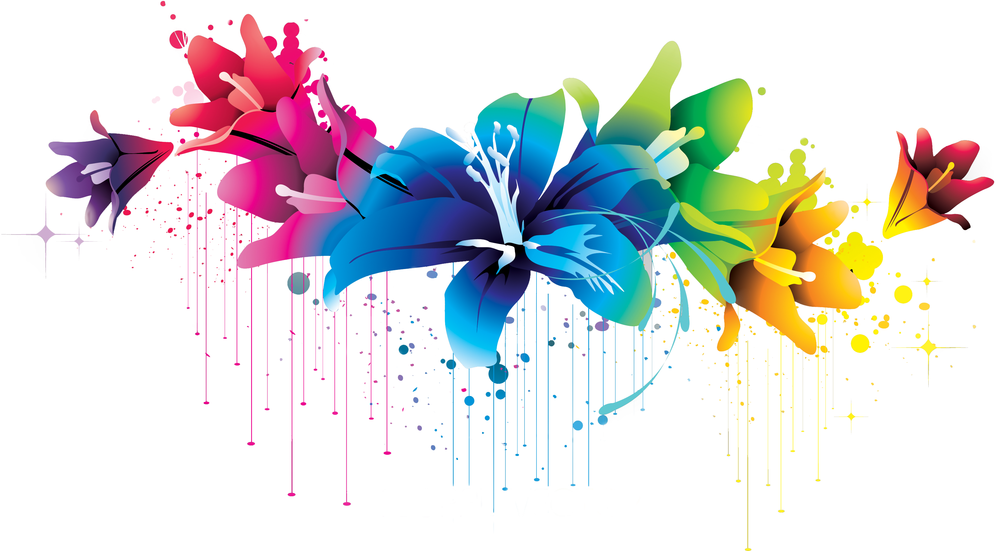 Flower vector clipart svg stock Colorful Flower Vector Clipart PNG 02 By BrielleFantasy On ... svg stock