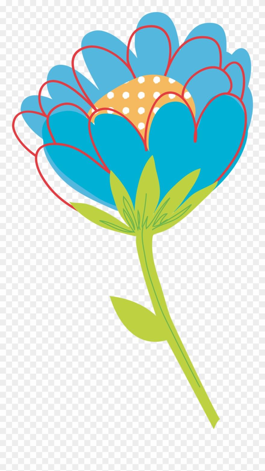 Flower vector graphics clipart. Flowers vectors plant single