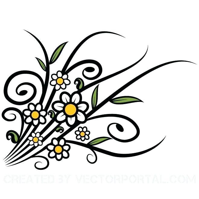 Clip art flowers belline. Flower vector graphics clipart