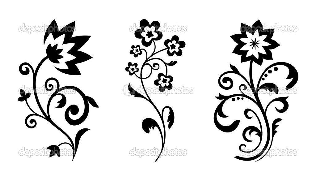 Silhouette free download best. Flower vector graphics clipart