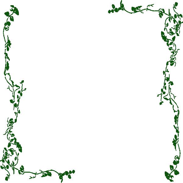 Ivy clip art border. Flower vine clipart